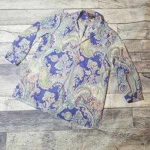 Peck & Peck paisley blouse medium